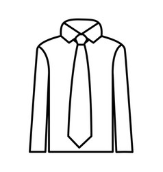 figure tie with shirt icon vector image vector image