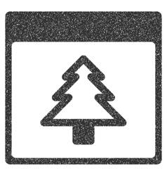 Fir tree calendar page grainy texture icon vector