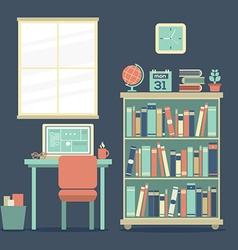 Flat design workplace vector