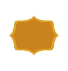 gold silhouette heraldic decorative frame vector image