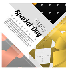 greeting card with gift boxes background vector image vector image
