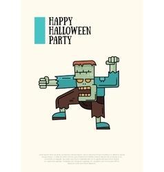Halloween line flat design modern vector image vector image