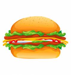 hamburger rasterized illustration vector image vector image