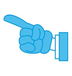 hand glove cartoon vector image vector image