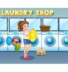 Laundry vector image vector image