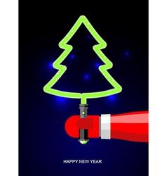 Light green christmas tree lightsaber in form of vector