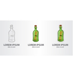 logo message in a bottle vector image