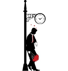 Man waiting for date vector