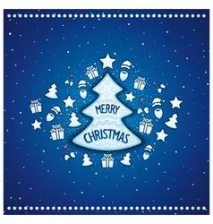 Marvelous christmas tree vector