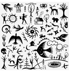 nature fairy tale doodles vector image