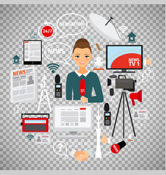 News and journalist concept vector
