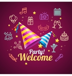 Party invitation birthday card vector