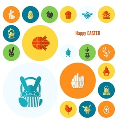Set of the Easter Icons vector image