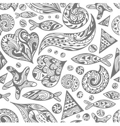 sketch sea pattern vector image