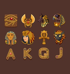 Symbols for slots game vector image