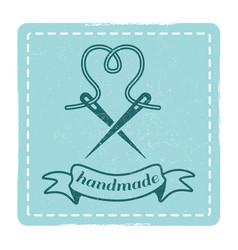 vintage hipster handmade emblem design vector image vector image