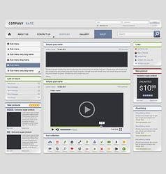 Web design elements set4 vector image