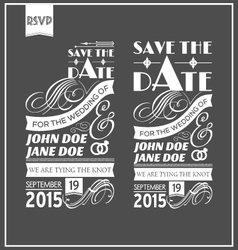 Wedding typography vector image vector image