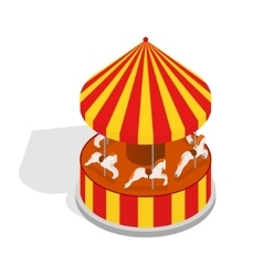 Carousel isometric view vector