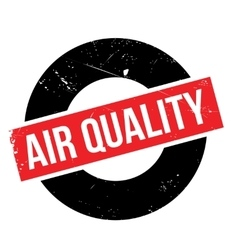 Air quality rubber stamp vector