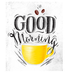 Poster good morning vector