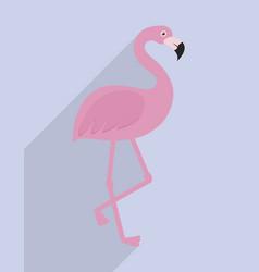 flamingo icon image vector image