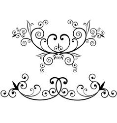 Elegant flourishes vector