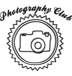 Photography club design vector