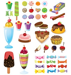 Different sweets vector image