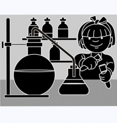girl research vector image
