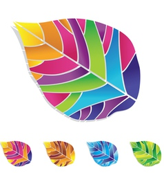 Colored leaf vector