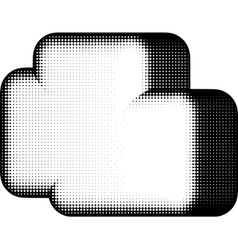 Cloud shape in halftone black and white vector