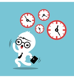 Busy concept running out of time business cartoon vector