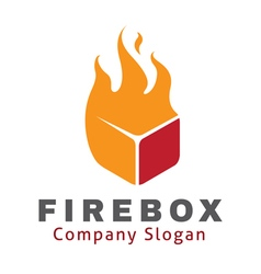 Fire box design vector