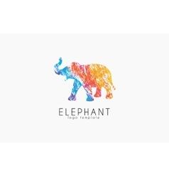 Elephant logo design Africa logo Colorful logo vector image