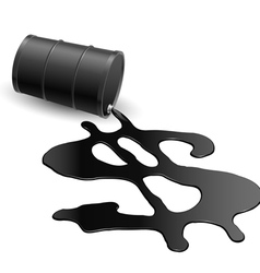 Drum with spilled oil vector