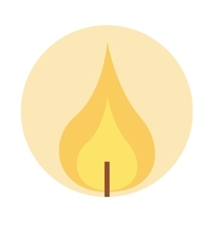 Flame lit candle icon vector
