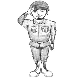 A sketch of a soldier vector