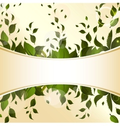 Abstract background with green leaves for design vector image vector image