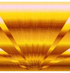 Abstract business or technology gold background ve vector image