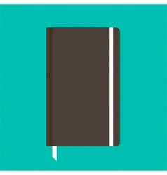 Black notebook with elastic band vector image vector image