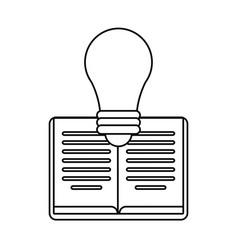 Book bulb creativity learning outline vector