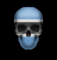 Botswana flag skull vector