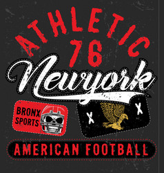 Bronx new york sport typography t-shirt graphics vector