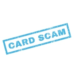 Card scam rubber stamp vector