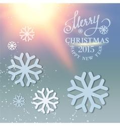 Christmas snow card vector image