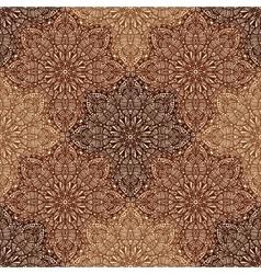 Circular ornaments seamless pattern in brown vector