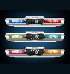 Creative digital scoreboard vector