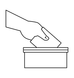Election urn isolated icon vector