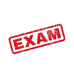 Exam text rubber stamp vector